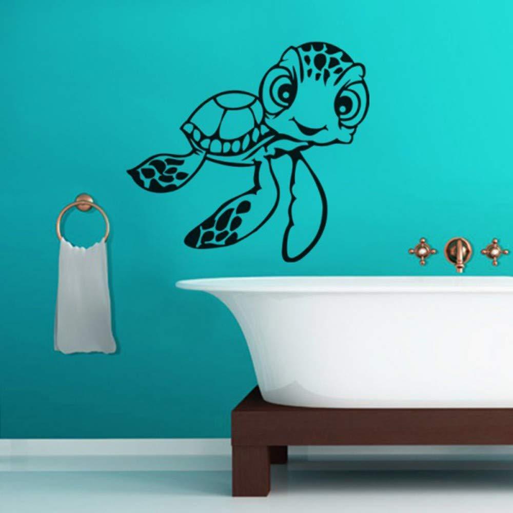 Bdpq_Vinyl Tatuajes de pared Tortugas Baño Bañera Pegatinas de ...