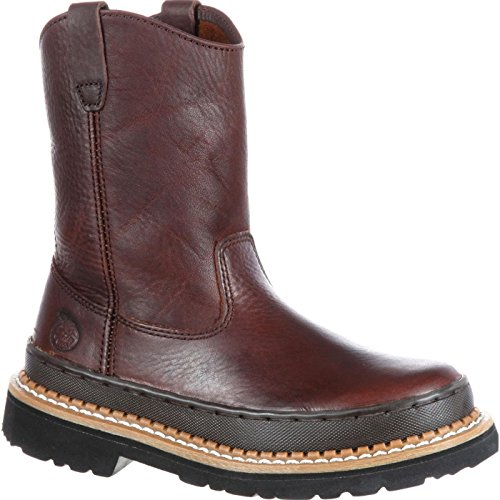 Georgia Boot Wellington Youth Brown, 5.5