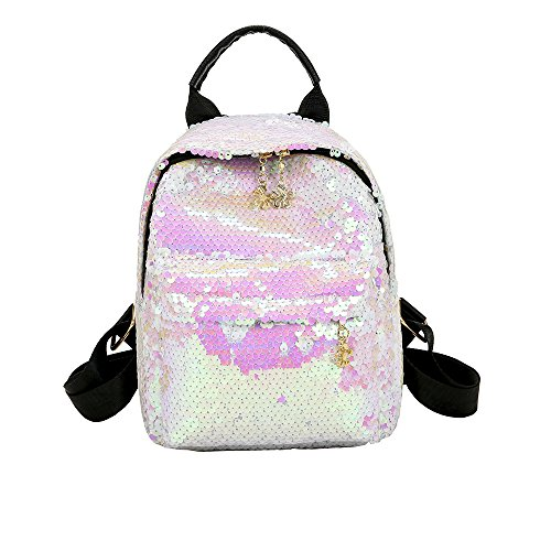 Sequin Backpack for Girls for School Flip Glitter Mermaid School Bag with Front Pocket Lightweight School Dayback Shinning Travel Backpack for Girls (Pink): ...
