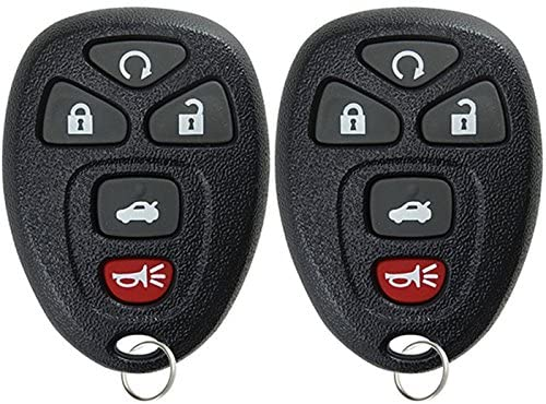 Discount Keyless Replacement 4 Button Automotive Keyless Entry Remote Control Transmitter 15252034 and a Replacement ID 46 Transponder Key
