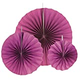Just Artifacts 12pcs Paper Pinwheel Decorative Assorted Size Pack (Plum)