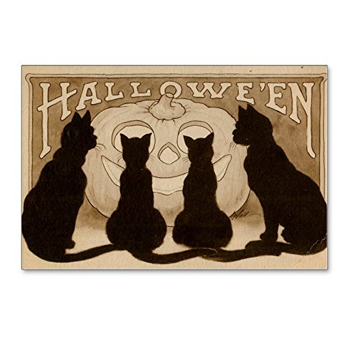 CafePress - Halloween Black Cats - Postcards (Package of 8), 6