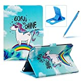 Wallet Leather Case for iPad 2/3/4,Herzzer Stylish Pretty [Born to Shine Pattern] PU Leather Purse Folio Full Body Stand Card Slot Cover with Soft TPU