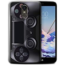 STUFF4 Gel TPU Phone Case / Cover for LG Stylus 3/Stylo 3/K10 Pro / Playstation PS4 Design / Games Console Collection