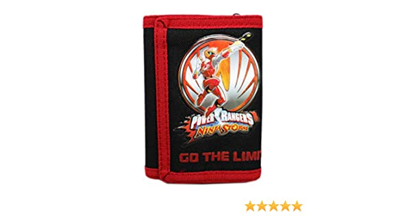 Power Rangers Ninja Storm Kids Red/Black Tri-fold Wallet