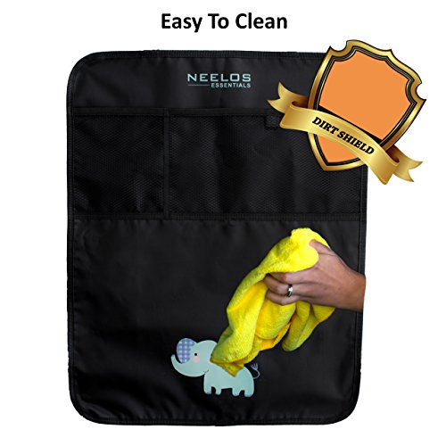 Superior Car Seat Back Protectors, Kick Mats With Organizer, 2 Pack with FREE GIFT - Best Backseat Protector, Universal Fit, Car Seat Covers - Must Have Car Accessories For Kids by Neelos Essentials (Image #4)