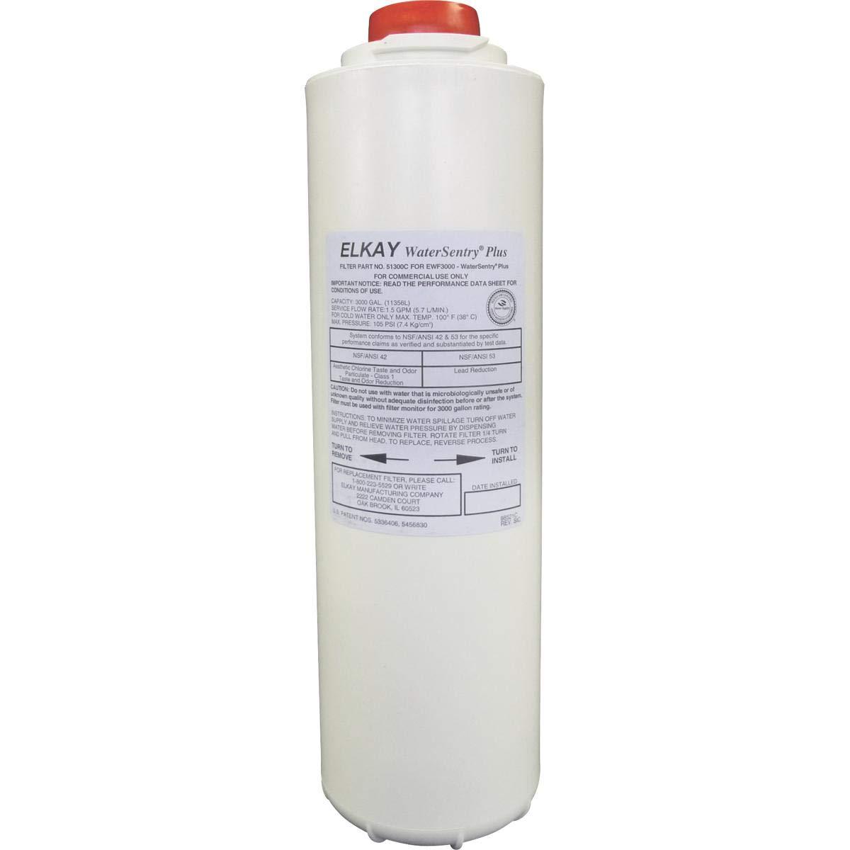 Elkay 51300C_3PK WaterSentry Plus Replacement Filter (Bottle Fillers), 3-Pack