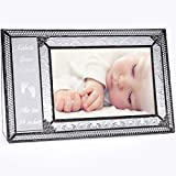 J Devlin Pic 393-46H EP573 Personalized Baby Picture Frame Engraved Glass 4 x 6 Horizontal Photo