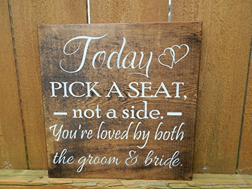 Today pick a seat not a side you're