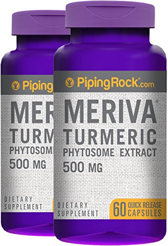 Piping Rock Meriva Turmeric Phytosome Extract 500 mg 2 Bottles x 60 Quick Release Capsules Dietary Supplement