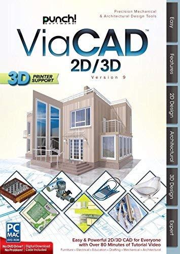 Encore(TM) Punch ViaCAD 2D/3D, For PC/Mac, Traditional Disc