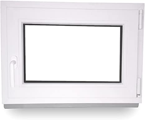 Dreh-Kipp BxH:85x40 cm DIN Links ALLE GR/Ö/ßEN Premium 3 fach Verglasung Fenster Kellerfenster Kunststofffenster wei/ß