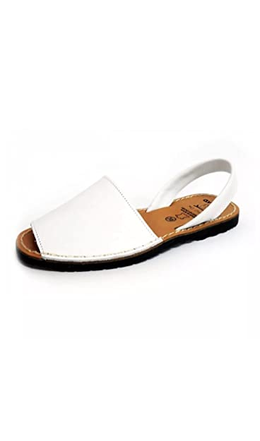 5f6a5b296573 Avarca Spanish Real Leather Sandals Kids Adults Glitter Plain Leather  Available - Various Available (eu39