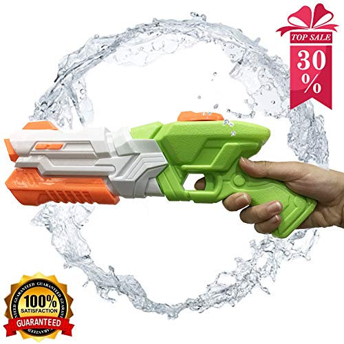(Whiteleopard Water Gun Water Blaster Large Capacity Squirt Gun, Shoots Up to 35 Ft- Game Fun Far Range Party Favor Toy for Kids and)