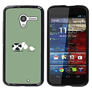 Paccase / SLIM PC / Aliminium Casa Carcasa Funda Case Cover - Chicken Baby Egg Farm Funny - Motorola Moto X 1 1st GEN I XT1058 XT1053 XT1052 XT1056 XT1060 XT1055