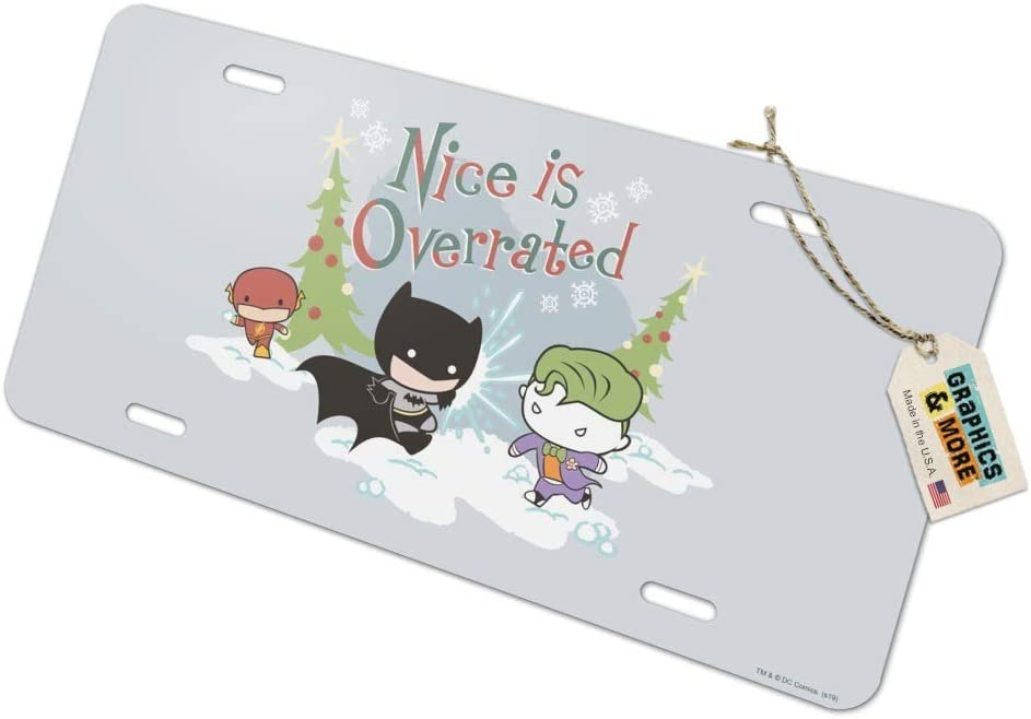 Graphics and More Batman Joker Nice is Overrated Novelty Metal Vanity Tag License Plate