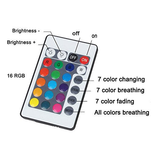 Moon Lamp 3D Printed Remote Control Night Light 16 RGB Colors Changing Dimmable LED Mood Light USB Rechargeable Moonlight 12cm/4.7 inch With Wood Stand (12cm) by Sourcebuy (Image #8)