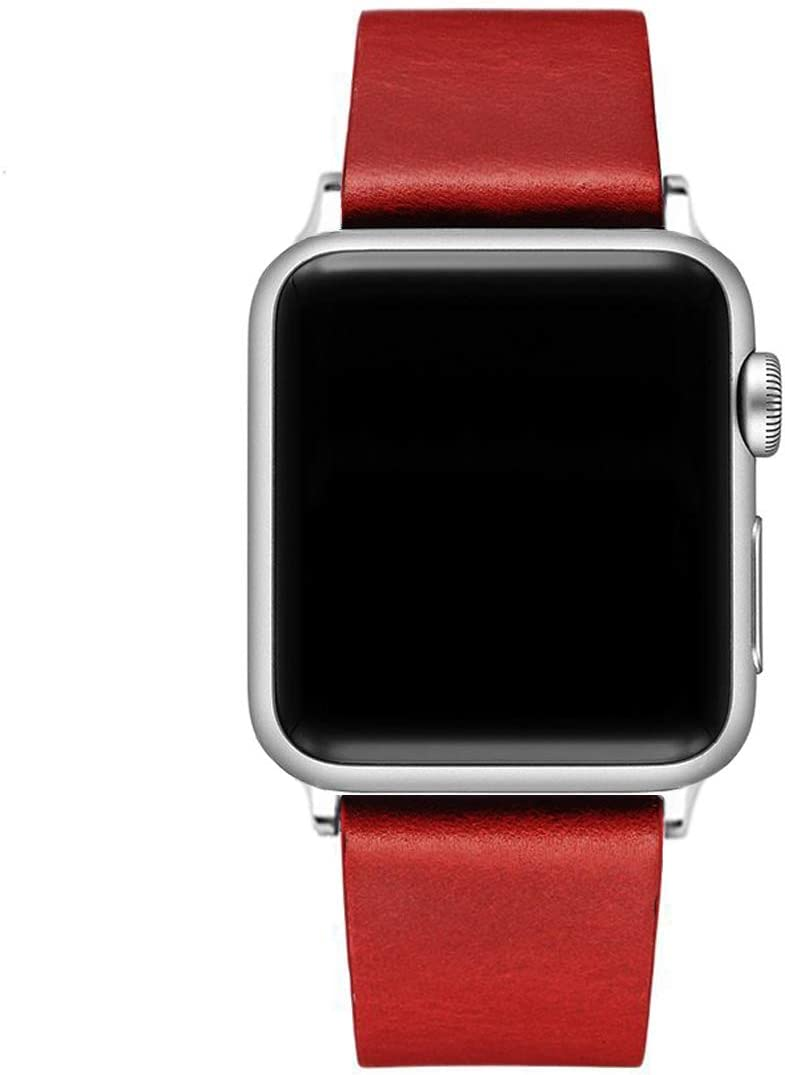 Leather Band Compatible Apple Watch Bands 38mm 40mm 42mm 44mm Women Men | Modern Style Series |Replacement iWatch Strap Wristband for Apple Watch