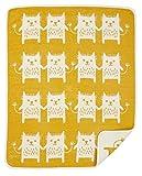 KLIPPAN Klippan Gerhard Neil Cotton mini blanket (Bobcat / yellow)