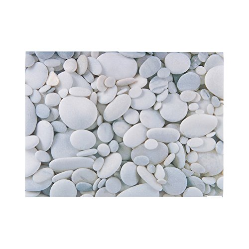 Paper Placemats - River Stone Print, Small Rocks - 12'' x 16'' - Semi Disposable - Reusable Up To 10 Times - 12ct box - Restaurantware by Restaurantware (Image #1)