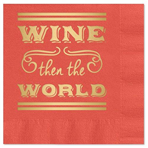 Wine World Beverage Cocktail Napkins product image