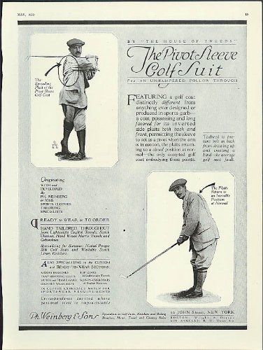 Pivot Sleeve (The Pivot Sleeve Golf Suit by Ph Weinberg & Sons New York City ad 1920)