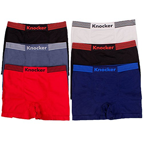 Knocker 6 Men's Seamless Boxer Briefs Underwear