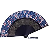 [Chinese & Japanese] Retro Silk Hand Fan Portable Folding Fan Handheld Fan NO.12