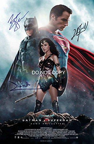 - Batman v Superman reprint signed autographed cast 12x18 poster photo #2 RP