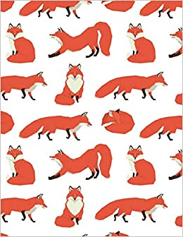 fox notebook wildlife animal journal notebook ruled lined page