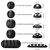 Cable Clips Holders Cord Management, Multipurpose Cable Organizer 10 Pcs for Computer, Cell Phone or Charger (Black)