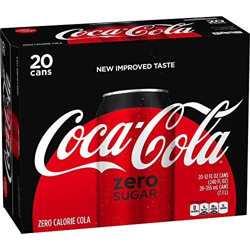 Sugar Diet Soda - Coke Zero Sugar Diet Soda Soft Drink, 12 fl oz, 20 Pack