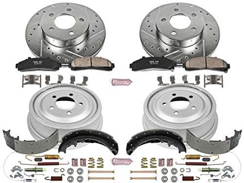 Power Stop K15004DK Performance Pad, Rotor, Drum and Shoe Kit (Front and Rear) -