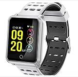 LJXAN Fitness Tracker, IP67 Waterproof Activity Counter Watch and Sleep Monitor Calorie Counter Watch, Slim Smart Bracelet for Kids Women Men,White