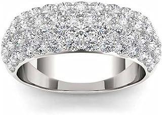 Vorra Fashion Women's Band Wedding Ring Plarinum Plated 925 Sterling Silver Round Cut CZ