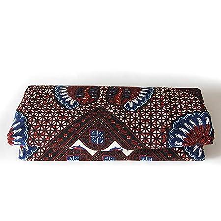 b25a28100213 Amazon.com  6 Yards African Wax Fabric 100% Cotton 2018 Ankara African  Cotton Wax Prints Fabric Super Hollandais Wax 6 Yards African Fabric for  Party Dress