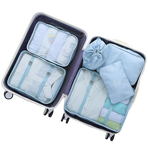 - OEE 6 pcs Luggage Packing Organizers Packing Cubes Set for Travel