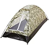 MaxamDigital Camo Extra-Long 1-Person Tent DIGITAL CAMO XL 1 MAN TENT