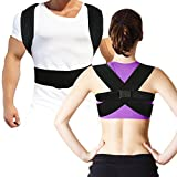 Back Posture Corrector Clavicle Support Brace With Waist Support Wide Straps for Women & Men by Kasster, Hybrid Designed for Your Upper, Lower Back, Helps to Improve Posture, Prevent Slouching and Upper, Lower Back Pain Relief, Fully Adjustable - ( L )
