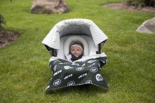 NFL New York Jets The Whole Caboodle 5PC set - Baby Car Seat Canopy with matching accessories