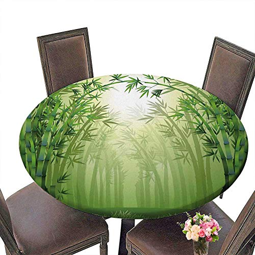 PINAFORE Chateau Easy-Care Cloth Tablecloth The Bamboo Trees Inside The Forest for Home, Party, Wedding 43.5