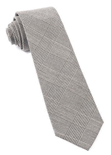 (The Tie Bar 100% Cotton Cotton Glen Plaid Black 3 Inch Tie)