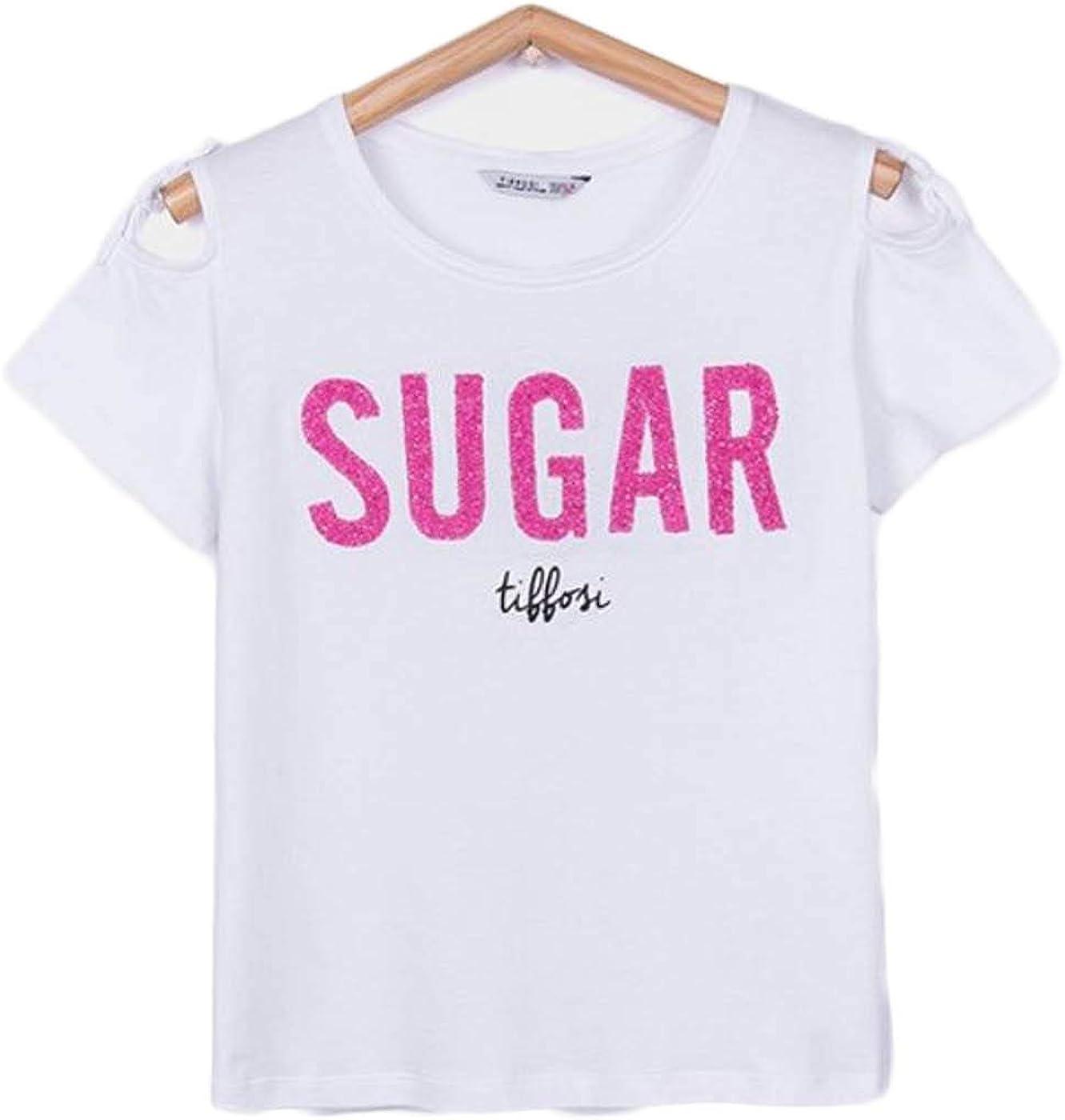 Tiffosi Camiseta Niña Blanco Sugar Riviera 8 Blanco: Amazon.es: Ropa y accesorios