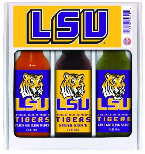 10 Pack LSU (Louisiana St Univ)Tigers Mini Grilling Set 3x5 oz - Lsu 10k Tigers