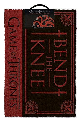 Game of Thrones Bend The Knee Door Mat Zerbino, PVC, Multicoloured, 40 x 60 cm Pyramid International GP85197 Gadget Belletristik / Geschenkbücher Diverses