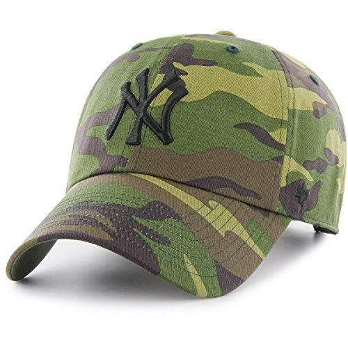 New York Yankees 47 Brand Unwashed Camo Clean Up Slouch Fit Hat
