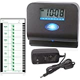 Lathem Tru-Align Thermal Print Time Clock, Automatic, Includes 25 E8 Time Cards, Gray (800P)