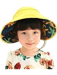 Little Kids Children Reversible UPF 50 Beach Cap Sun Hat