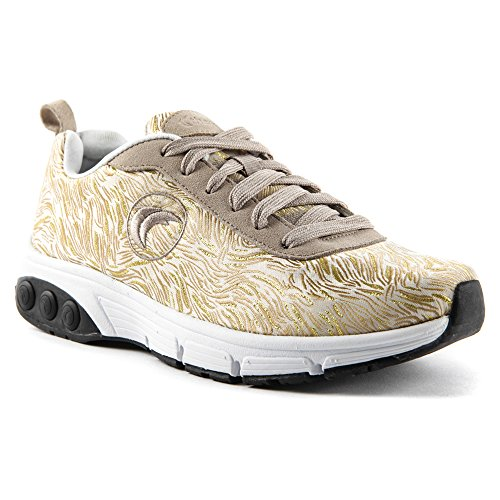 Gold athletic shoes Gold sneakers Women's M 8 Therafit and Paloma 5 XwUqgcwE7