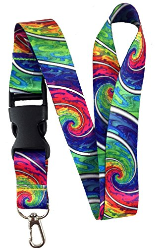 - Tie Dye Lanyard Badge Holder Psychedelic Trippy